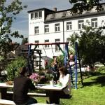 Pension Rosenhof Gartenansicht