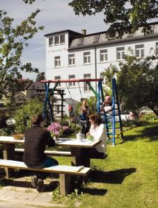Pension Schöneck Garten